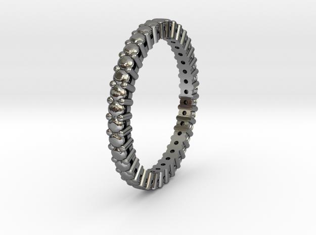 "Rivière small ""diamonds"" in Fine Detail Polished Silver: 8.5 / 58"