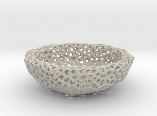 Bowl (19 cm) - Voronoi-Style #6 in Natural Sandstone