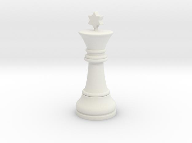 06King2 Small Single in White Natural Versatile Plastic