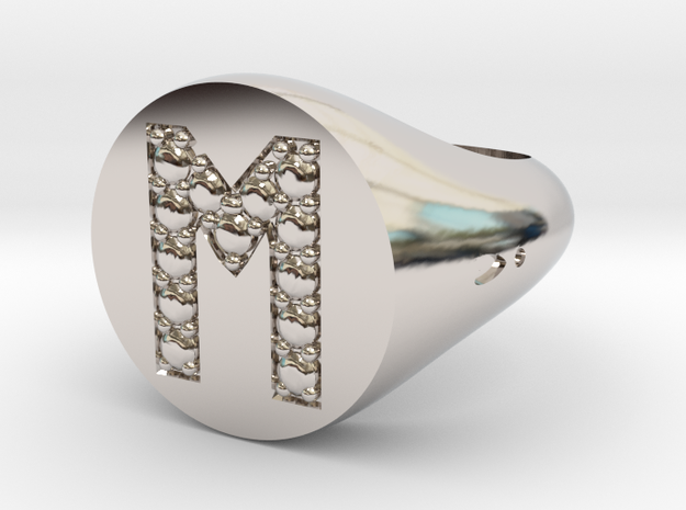 "Ring Chevalière Initial ""M"""