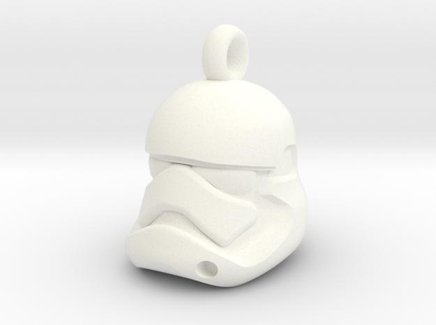 First Order Stormtrooper Helmet Pendant in White Processed Versatile Plastic