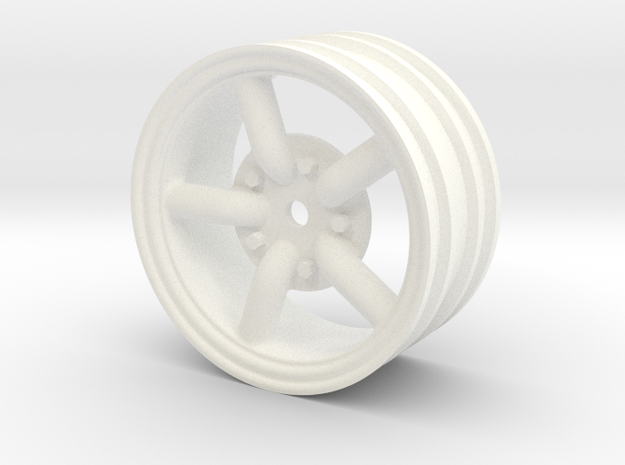 Mach 5 1.9 wheel with 12mm hex +3mm offset in White Strong & Flexible Polished