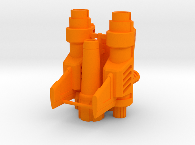Psychotic Gunner's Blasters in Orange Processed Versatile Plastic