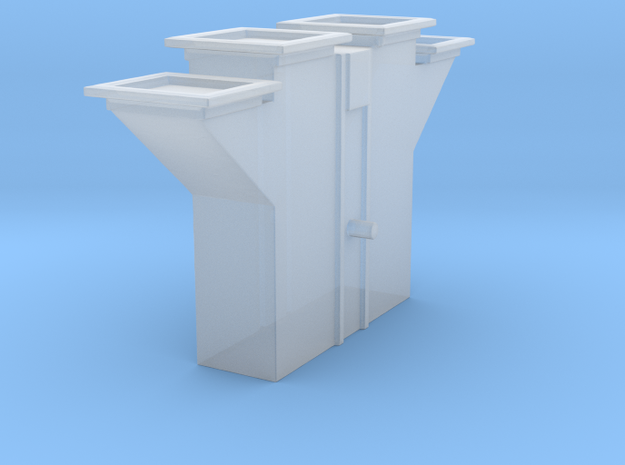 'N Scale' - Bucket Elevator-Boot 3x3mm in Smooth Fine Detail Plastic