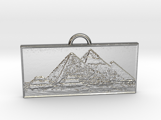 Giza Pendant in Polished Silver
