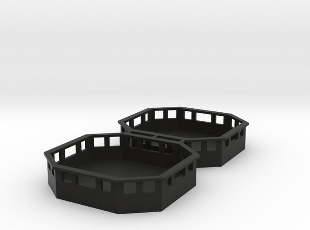 De Agostini Millennnium Falcon Service Area in Black Natural Versatile Plastic