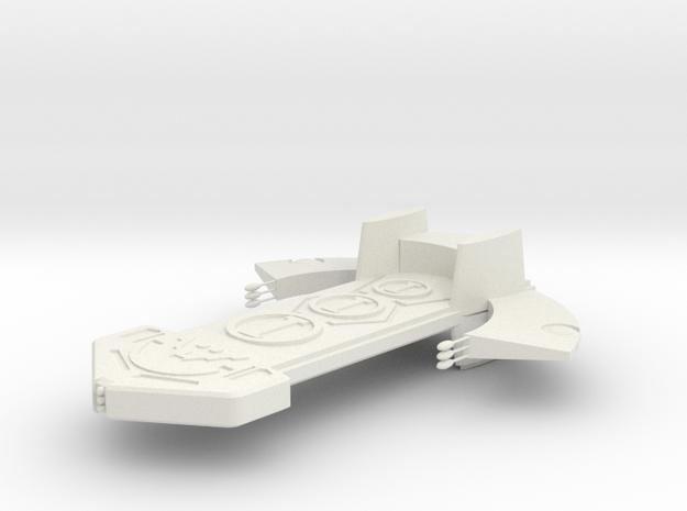 Asgard Bilskirnir class ship 160mm in White Natural Versatile Plastic