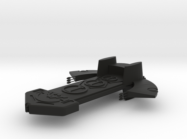 Asgard Bilskirnir class ship 160mm in Black Strong & Flexible