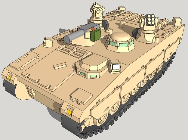 1/350 CV90 Armadillo APCs (4pcs) in Smooth Fine Detail Plastic