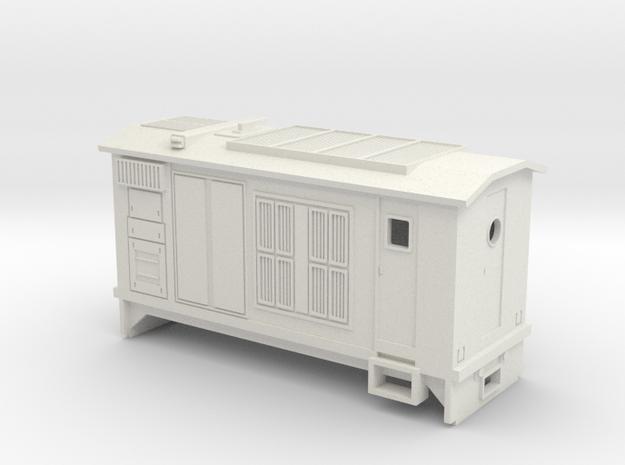 HOn30 B-Unit Boxcab Locomotive (Katie 1) in White Strong & Flexible