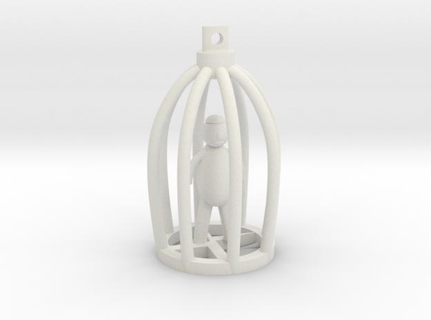 Blind Man in Broken Cage Pendant