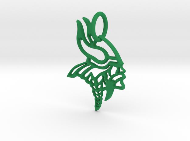 Viking Keychain in Green Processed Versatile Plastic