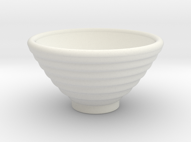 DRAW bowl - ceramic ribbed in White Natural Versatile Plastic