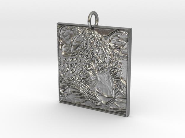 Camo Pendant in Natural Silver