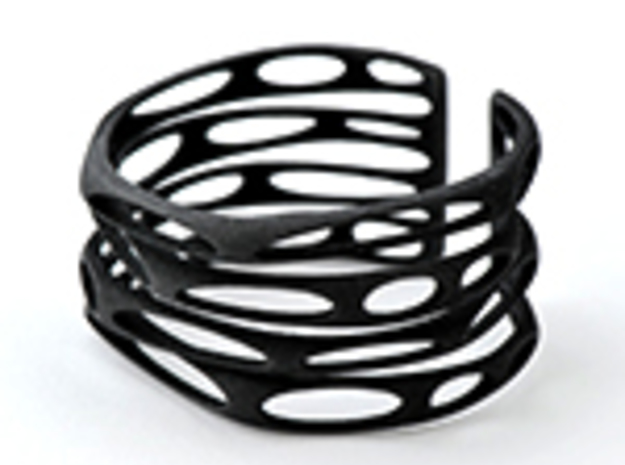 Rocker Coil (size S) in Black Natural Versatile Plastic