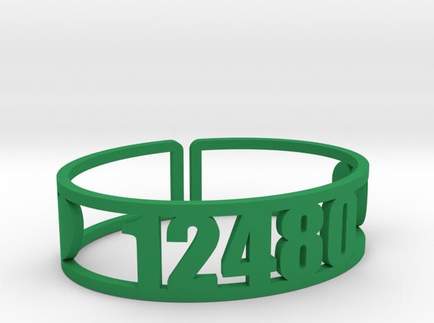 Timber Lake Zip Cuff in Green Processed Versatile Plastic