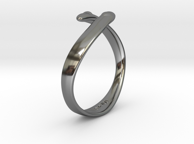 """""""I Love You"""" Ring in Fine Detail Polished Silver"""