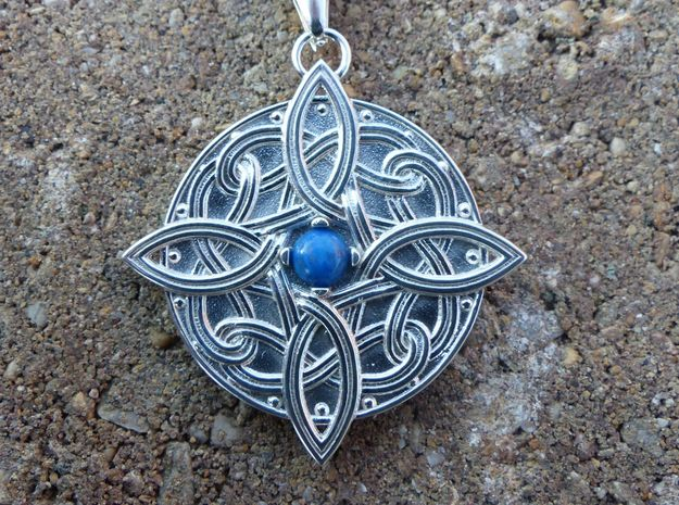 Celtic Four Point Pendant - No Gem