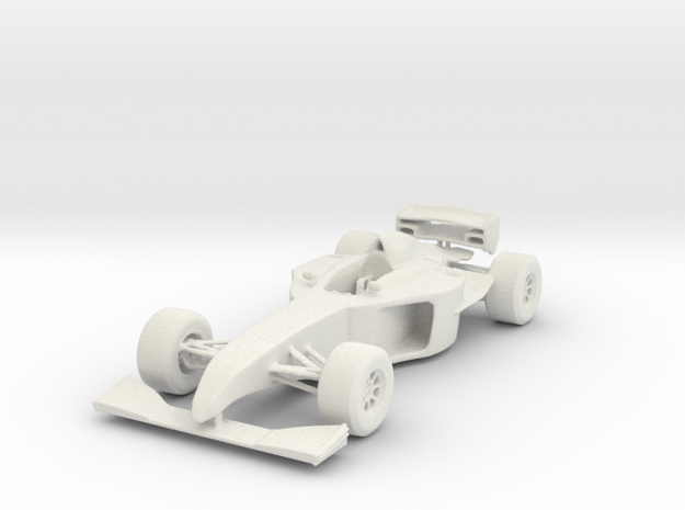 Formula Car in White Natural Versatile Plastic