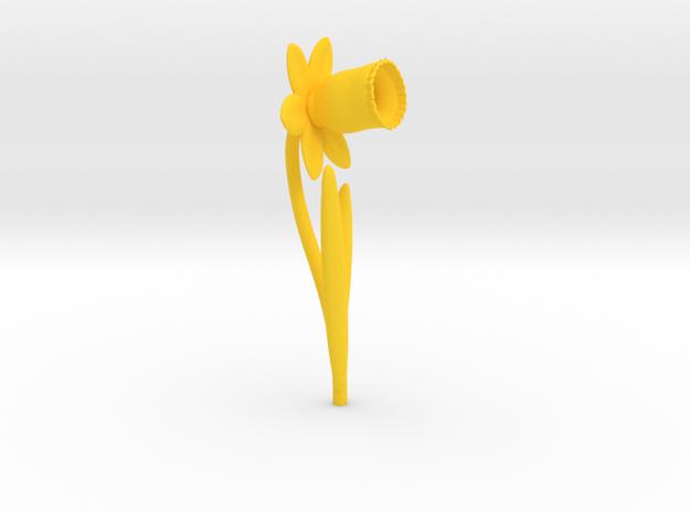 Daffodil Rev05 in Yellow Processed Versatile Plastic