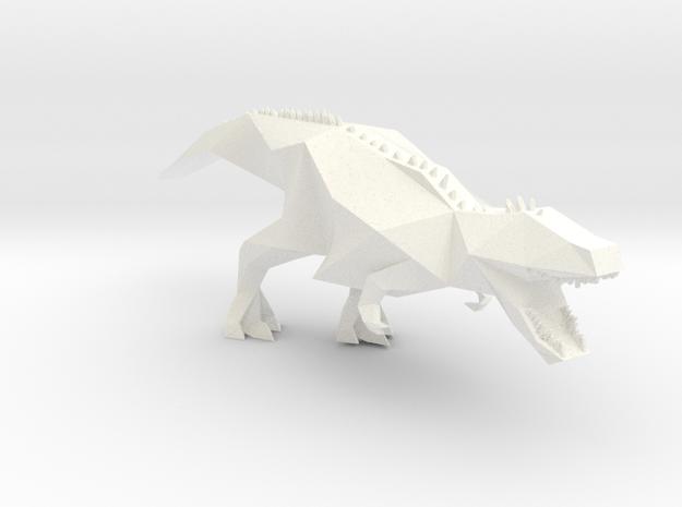 Trex Dino in White Processed Versatile Plastic