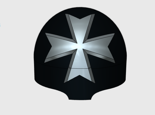 Maltese Cross  = Terminator Shoulder x10 in Frosted Ultra Detail