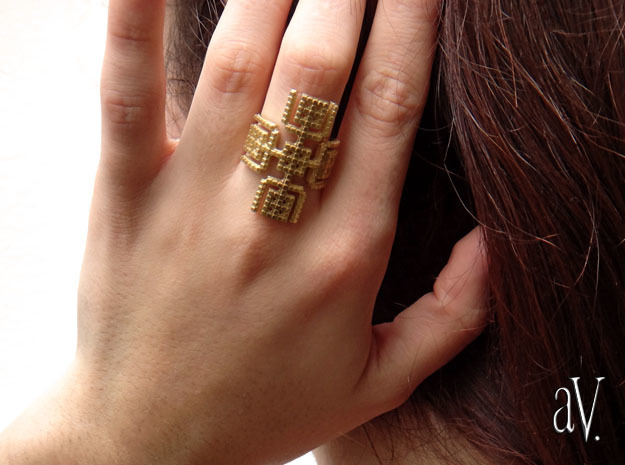 Lith Arms Ring in Natural Brass: 8 / 56.75