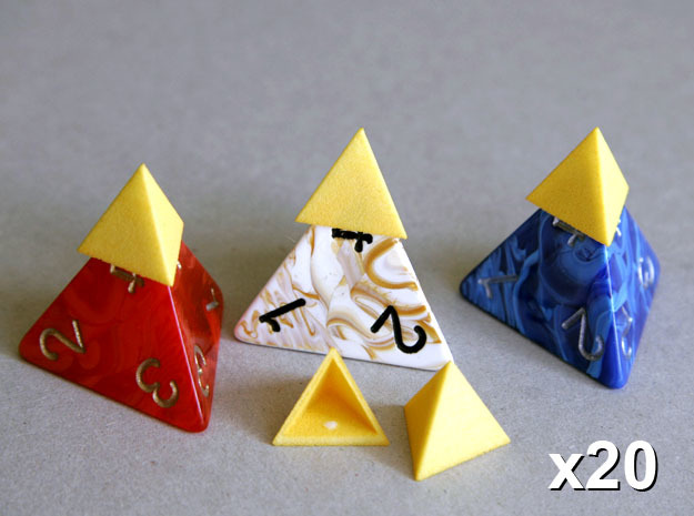 Tetrahedron Capstones (x20) in Yellow Strong & Flexible Polished