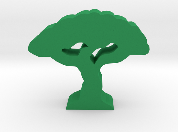 Game Piece, Savannah Tree in Green Processed Versatile Plastic