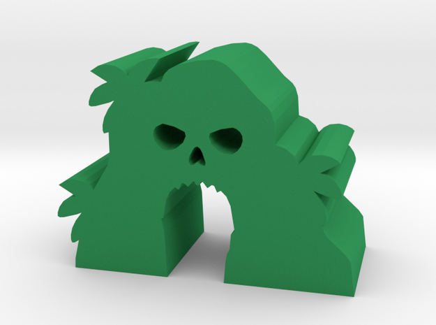 Game Piece, Skull Island in Green Processed Versatile Plastic