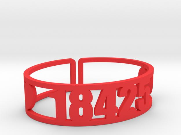 Timber Tops Zip Cuff in Red Processed Versatile Plastic