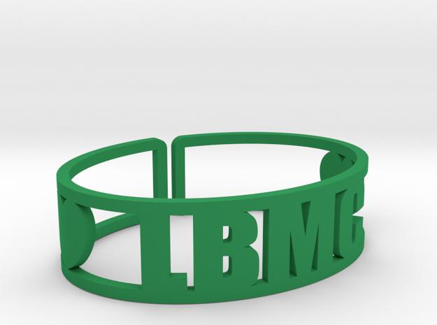 LBMC Cuff in Green Processed Versatile Plastic