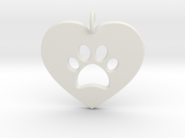 Pet Love in White Natural Versatile Plastic