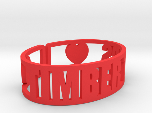 Timber Tops Cuff in Red Processed Versatile Plastic