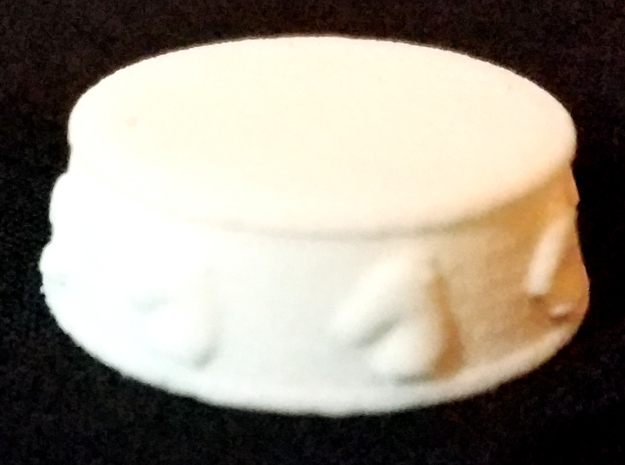 Chess Knight Base - 1 inch in White Natural Versatile Plastic