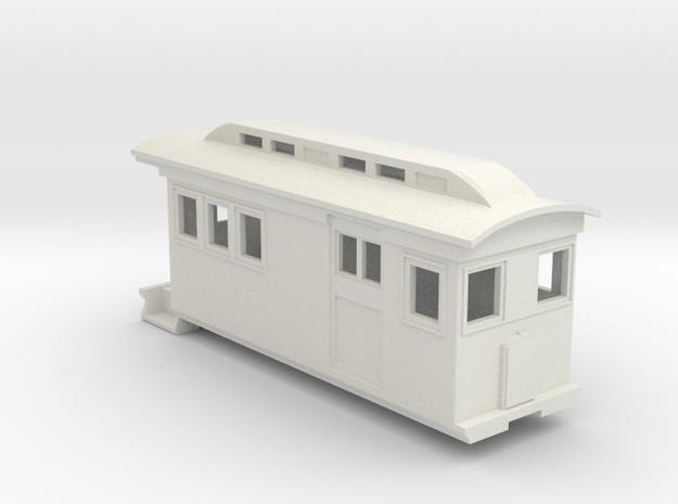 HOn30/OO9 Doodlebug/Railmotor (Megan 1) in White Natural Versatile Plastic