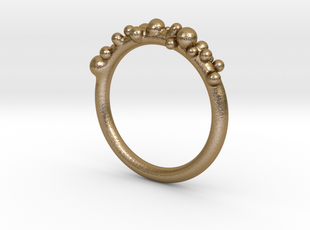 Bubble Ring (17mm) in Polished Gold Steel
