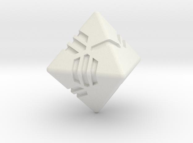 Stripes D8 in White Natural Versatile Plastic