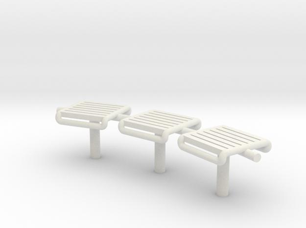 MOF Bench - 72:1 Scale in White Natural Versatile Plastic