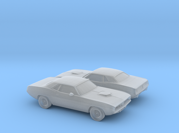 1/160 2X 1971 Plymouth Baracuda in Frosted Ultra Detail