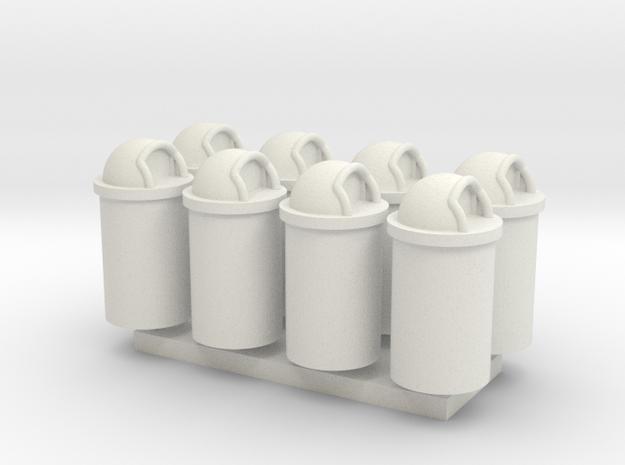 MOF Trash Can 55 Gal(8)[72-1] in White Natural Versatile Plastic