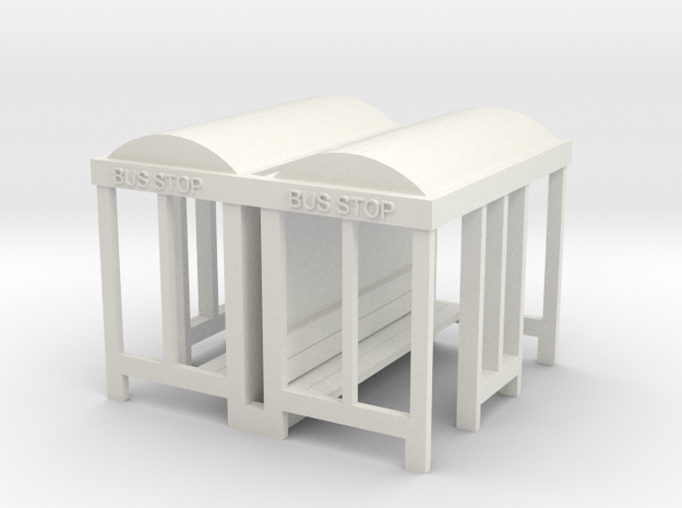 Bus Stop - 72:1Scale Qty(2)  in White Natural Versatile Plastic
