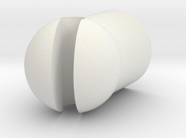Gaunt in White Natural Versatile Plastic