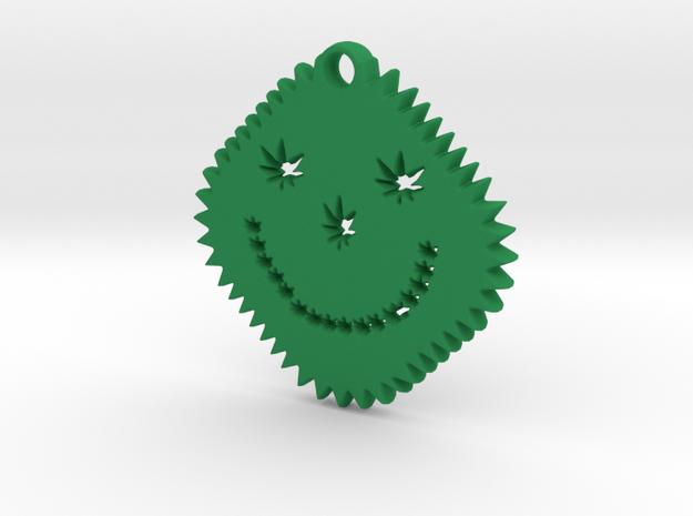 face 2 in Green Processed Versatile Plastic