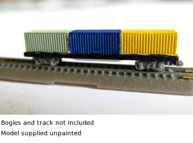 1/450 Container Wagon A x1 in Smooth Fine Detail Plastic