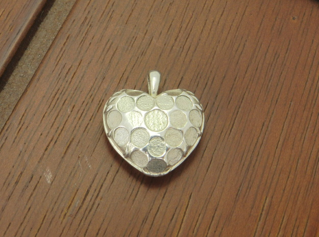 Custom Heart Pendant in Natural Silver