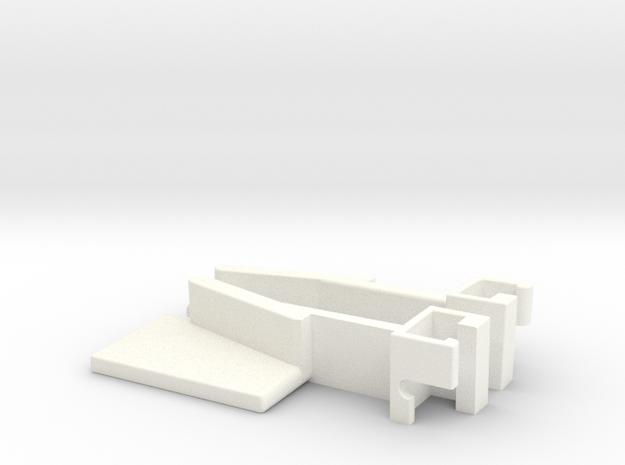 IIgs Latch - Pair in White Processed Versatile Plastic