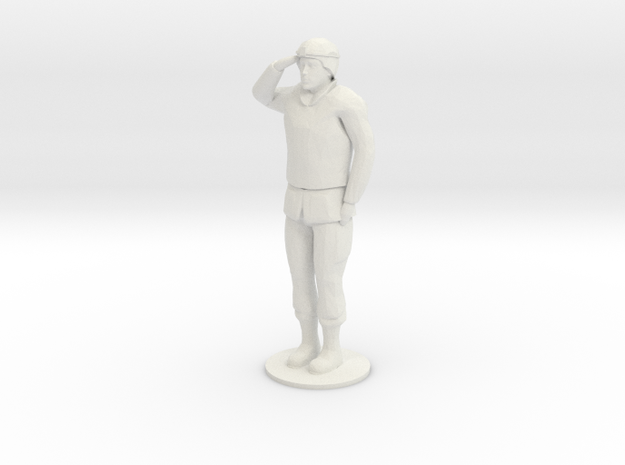 Male Soldier Salute in White Strong & Flexible