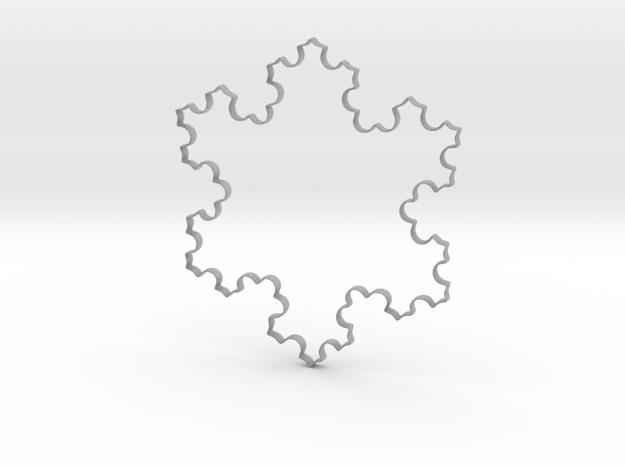 Koch Flocon in Metallic Plastic