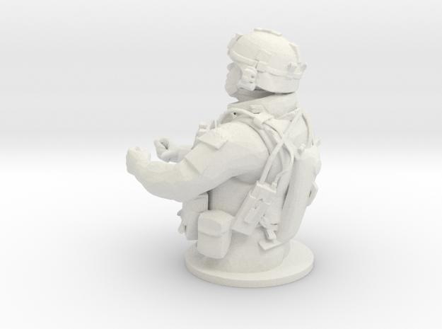 Tank Gunner 1/7 in White Strong & Flexible